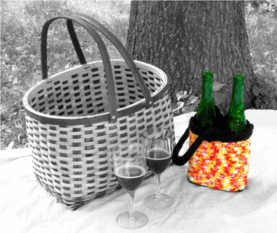Fireside Wine Tote by: Color ME Crazy LLC