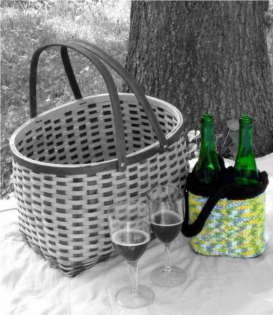 Garden Party Wine Tote by: Color ME Crazy LLC