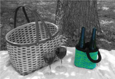 Rinforest Wine Tote by: Color ME Crazy LLC