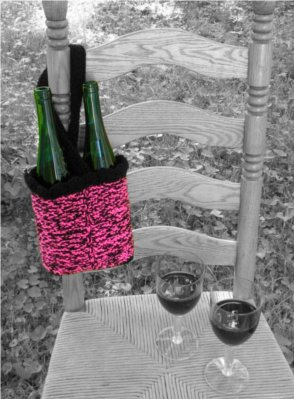 Sassy Pants Wine Tote by: Color ME Crazy LLC